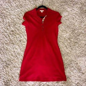 Womens Burberry Brit Polo Pique Dress sz M